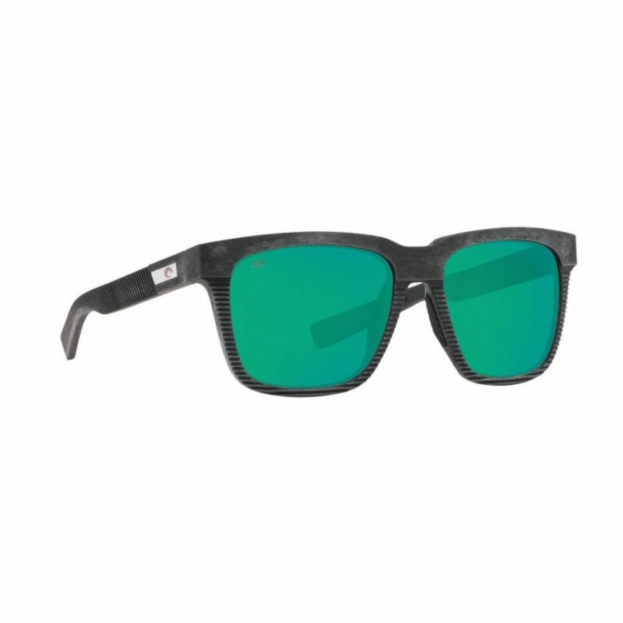Pescador Net Gry Rubber Mens Sunglasses Colour is Gray Green Mirror