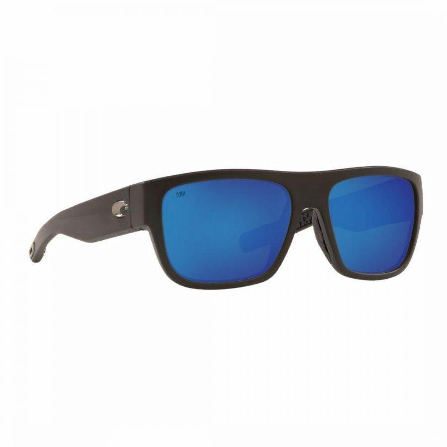 Sampan 11 580 Mens Sunglasses Colour is Matte Bk Blue Mirror