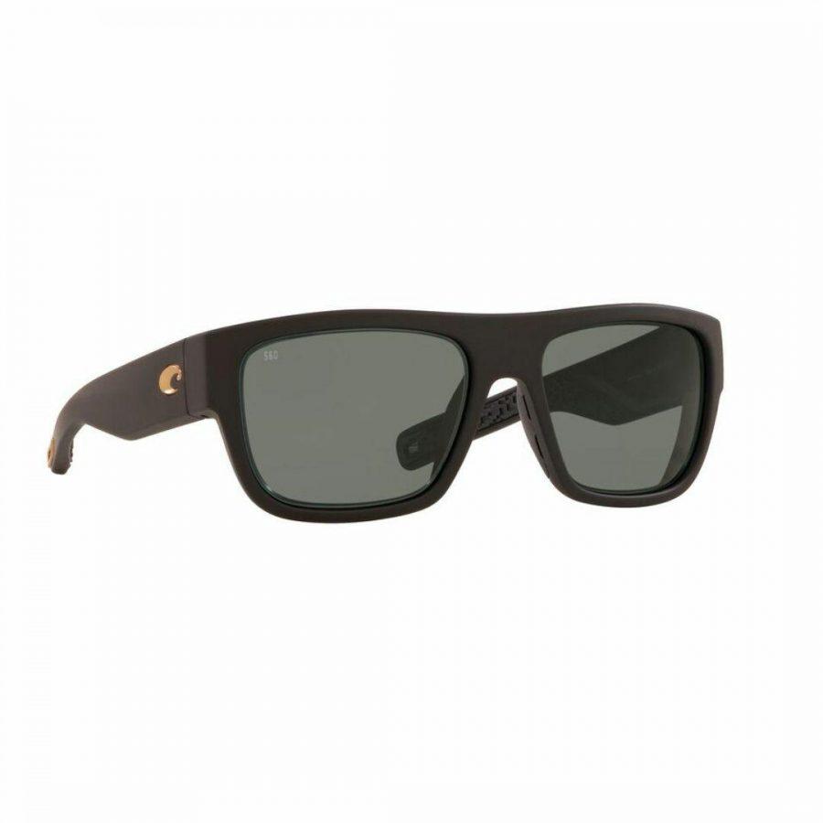 Sampan Matte Black 580g Mens Sunglasses Colour is Matte Black Grey