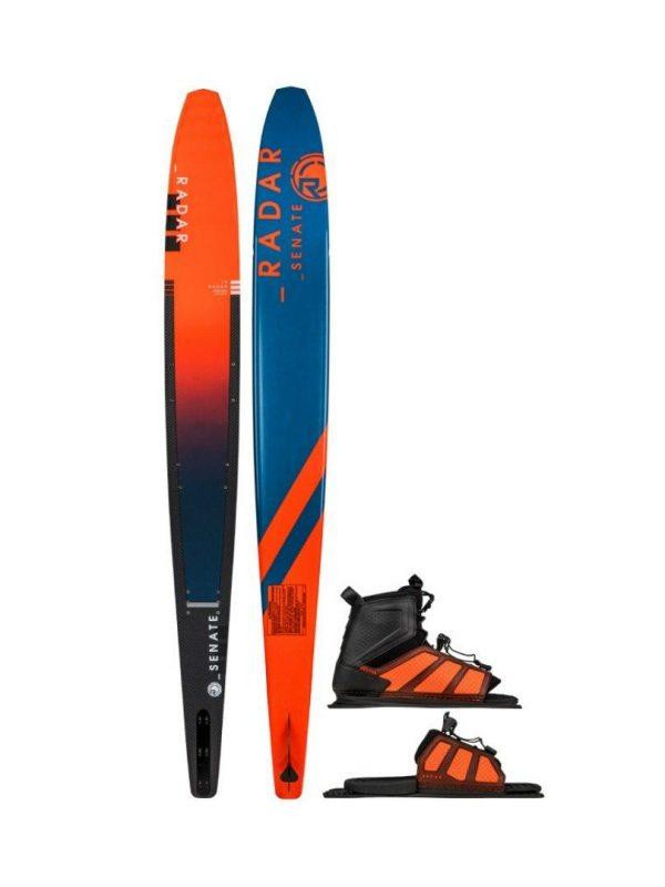 2019 Alloy Senate Unisex Water Skis Colour is Caff Orange Stl Blue