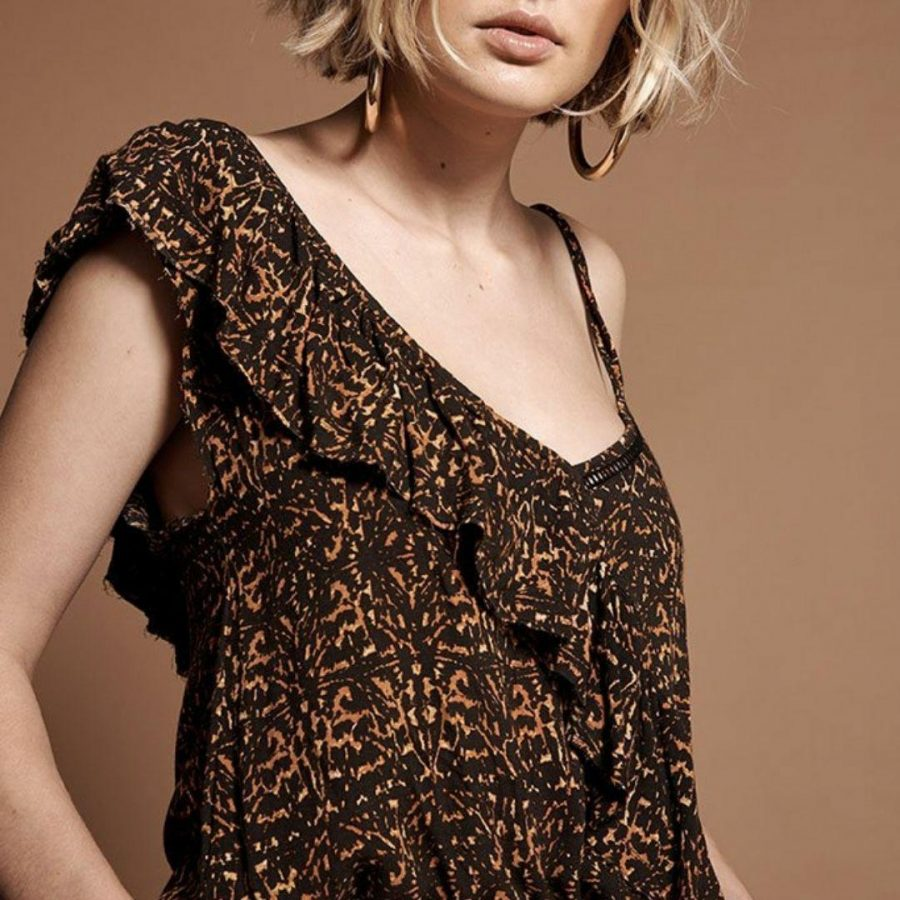 Africa Ashley Top Womens Tops Colour is Tobacco