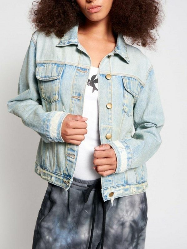 Kasas Trucker Jacket Womens Jackets Colour is Kanb