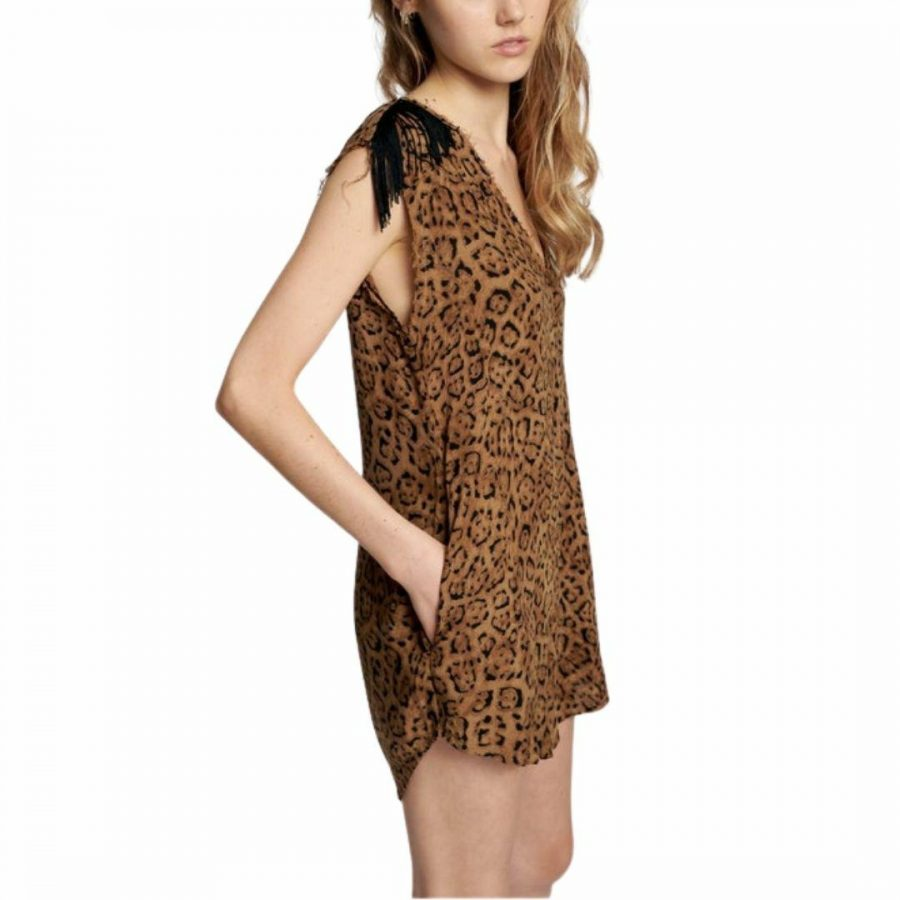 Animal Print Jumpsuit Womens Skirts And Dresses Colour is Animal