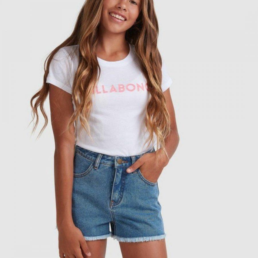 Avalon Short Girls Walkshorts Colour is Blue