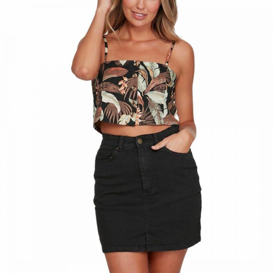 El Tropical Cami Womens Tops Colour is Black