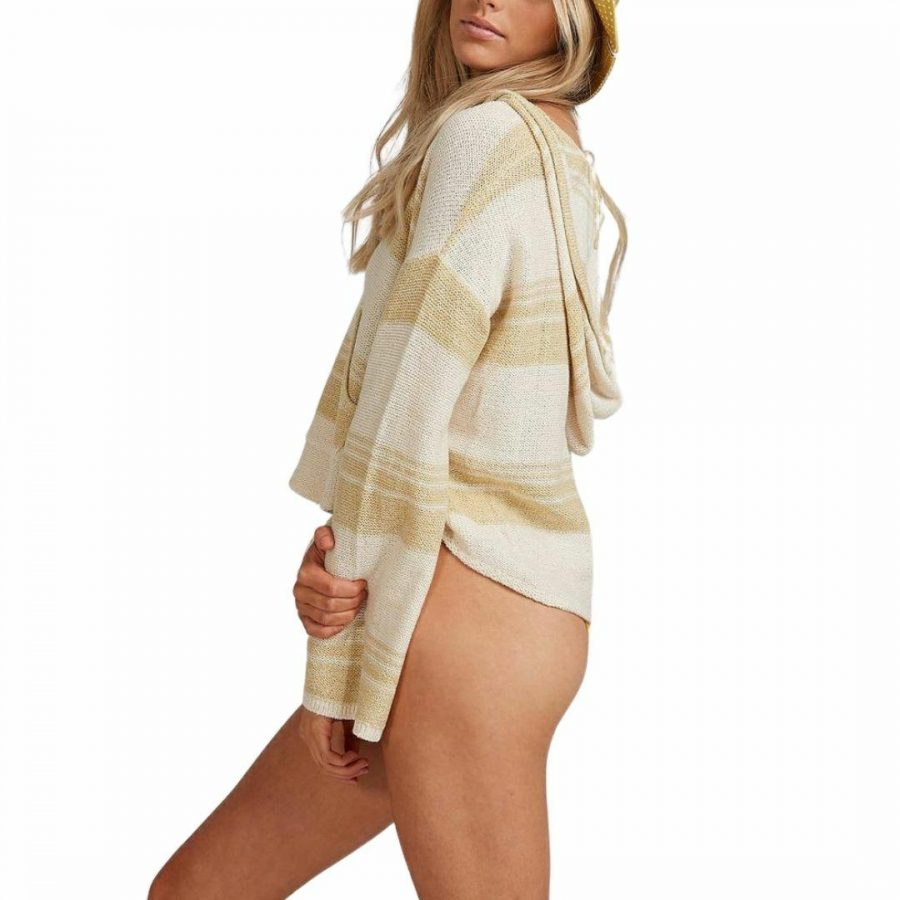 Baja Beach Sweate Womens Hooded Tops And Crew Tops Colour is Grass Roots