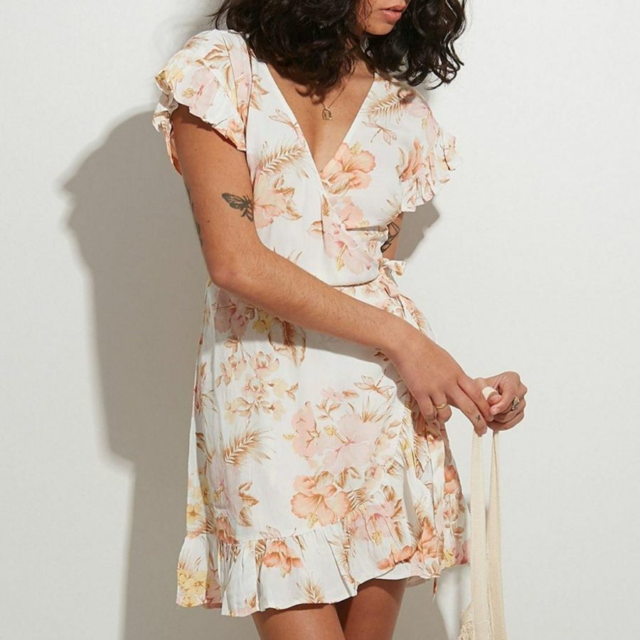 Shallows Wrap Dre Womens Skirts And Dresses Colour is Off White