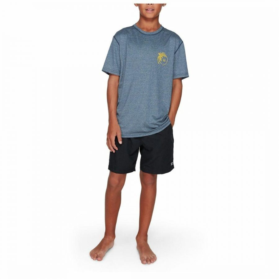 Boys Storm Lf Ss Boys Rash Shirts And Lycra Tops Colour is Navy Heather