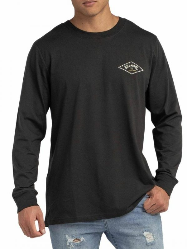 Adiv Diamond Ls T Mens Tee Shirts Colour is Black