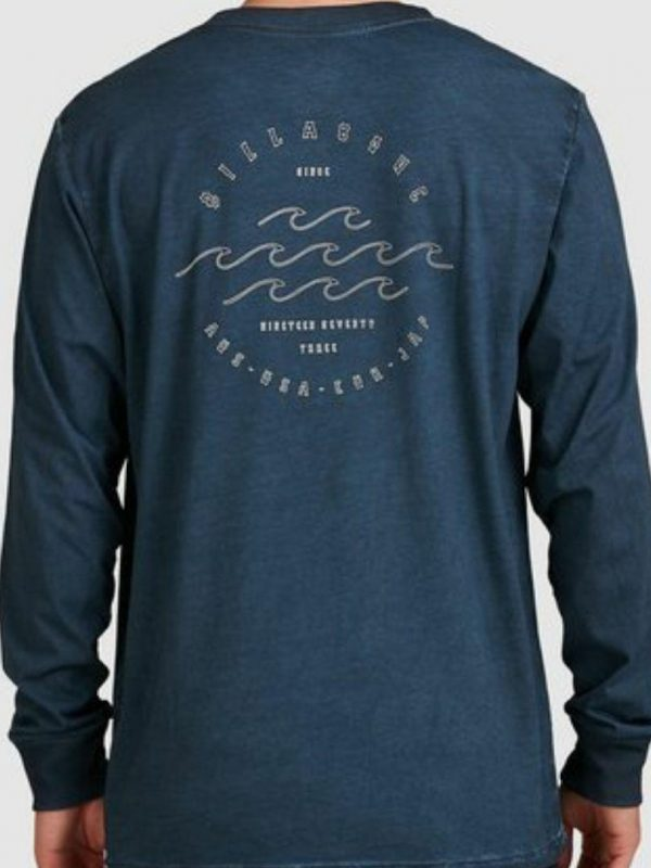 Big Wave Dave Ls Mens Tee Shirts Colour is Navy