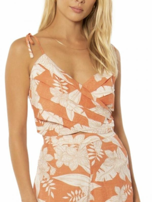 Sage Crop Woven Cami Womens Tops Colour is Sunrise