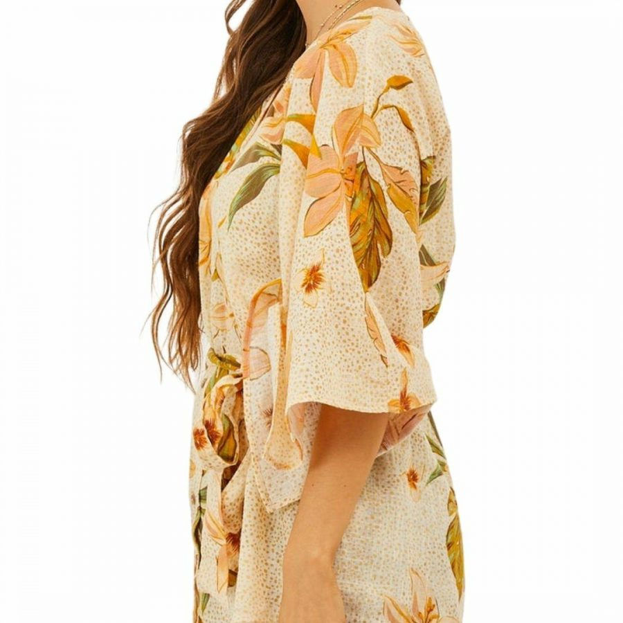 Mystic Sands Ls Wovn Womens Skirts And Dresses Colour is Amber Light
