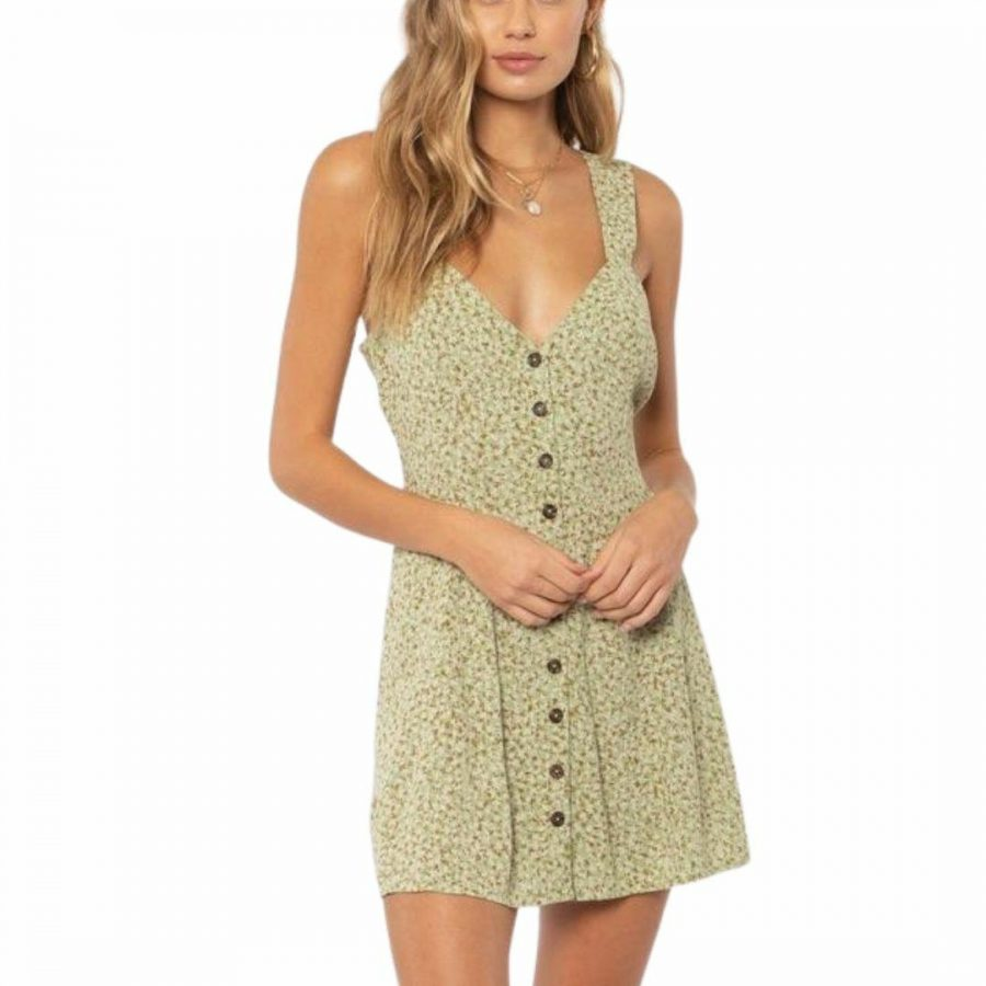 Ayla Woven Mini Dress Womens Skirts And Dresses Colour is Light Agave