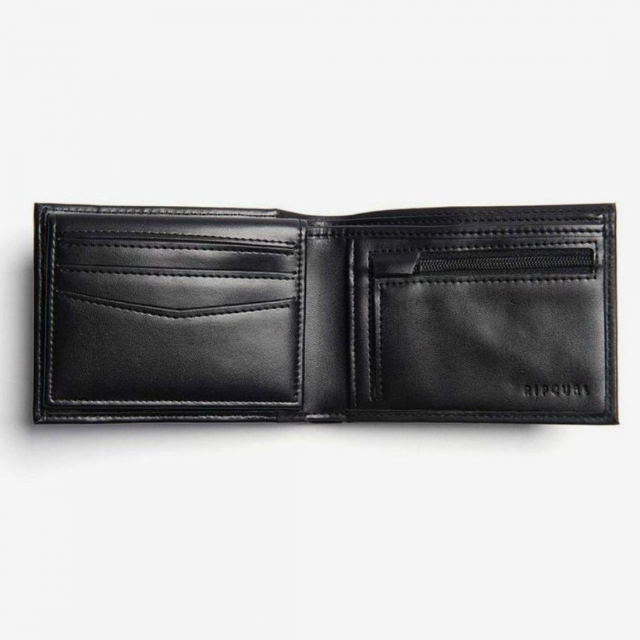 Stacka Rfid Pu All Day Mens Wallets Colour is Black