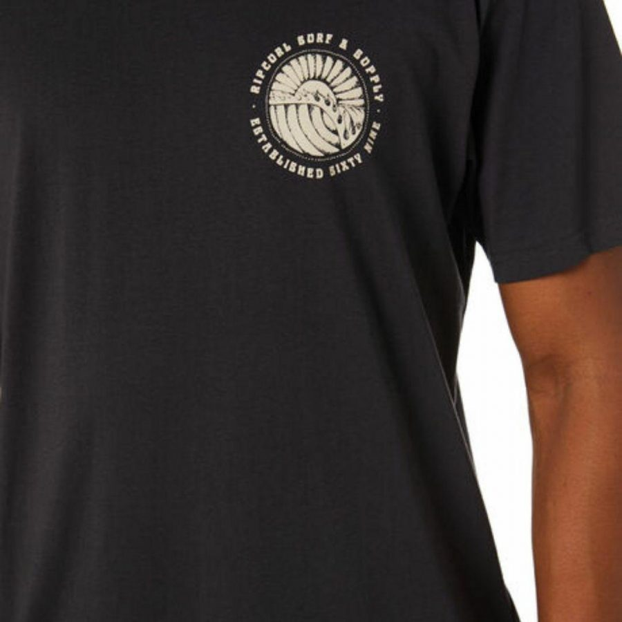 Sunsets Tee Mens Tee Shirts Colour is Washed Black