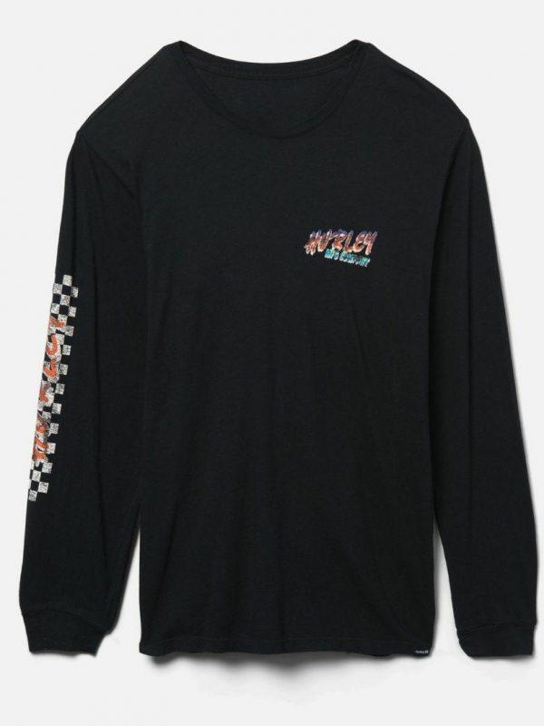 Evd Wsh Racer Script Mens Tee Shirts Colour is Black