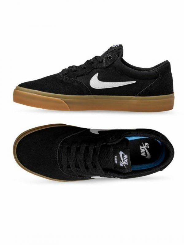 Nike Sb Chron2 Unisex Shoes And Boots Colour is Black White Noir