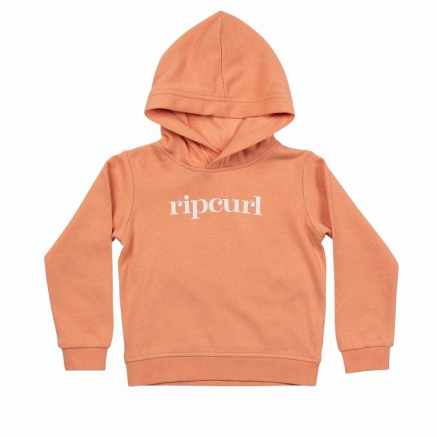 Golden Hoodie - Girl Kids Toddlers And Groms Tops Colour is Coral Pink