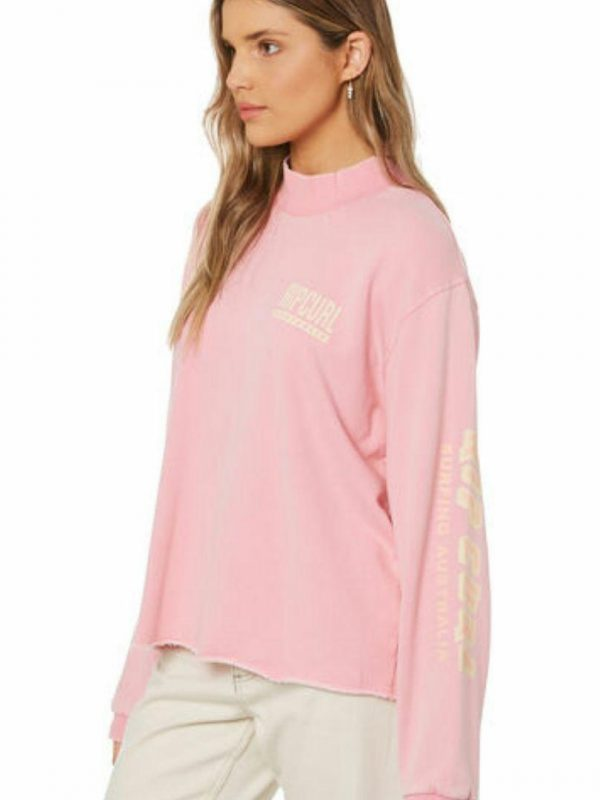 Vintage Revival Crew Womens Tops Colour is Pink