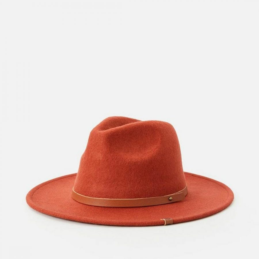 Sierra Wool Panama Womens Hats Caps And Beanies Colour is Rust