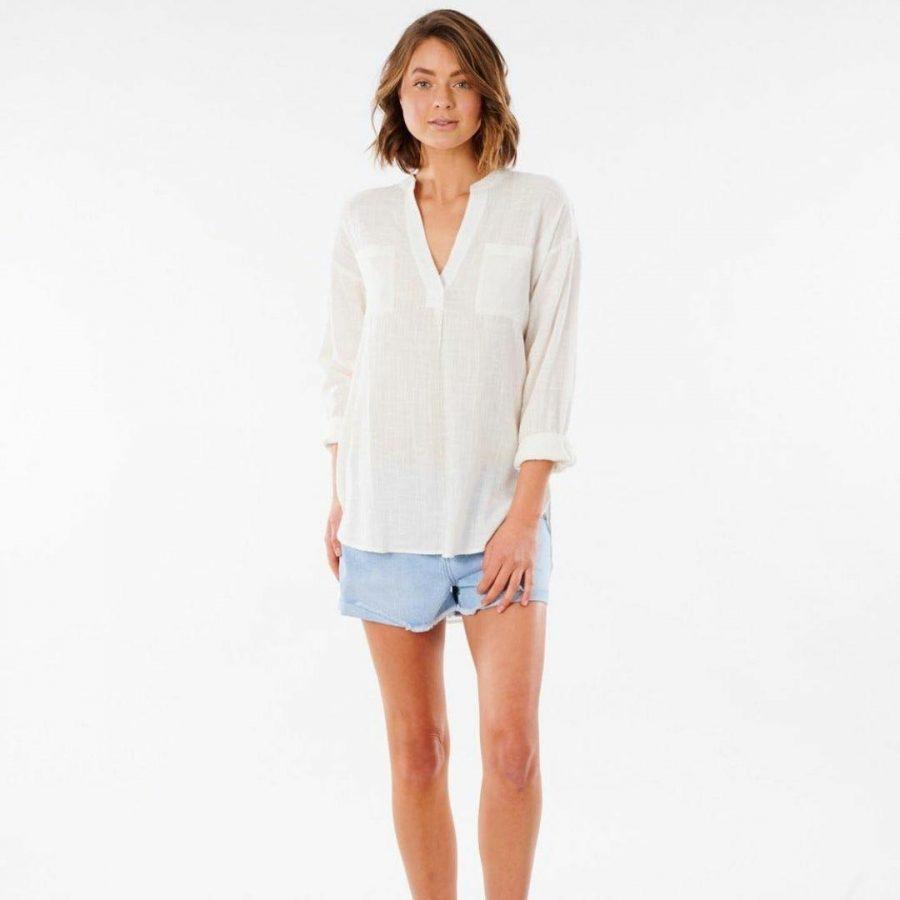 Classic Surf Shirt Womens Tee Shirts Colour is Bone