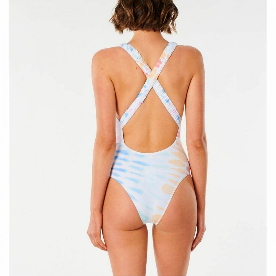 Wipeout Cheeky 1 Pc Womens Swim Wear Colour is Multi