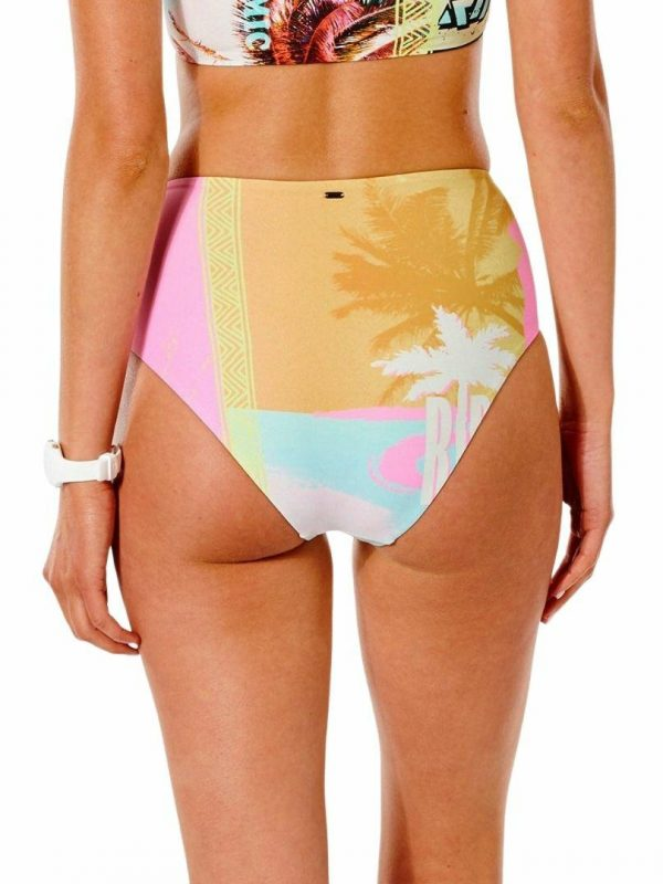 Twin Fin Hi Waist Good Pt Womens Swim Wear Colour is Pink