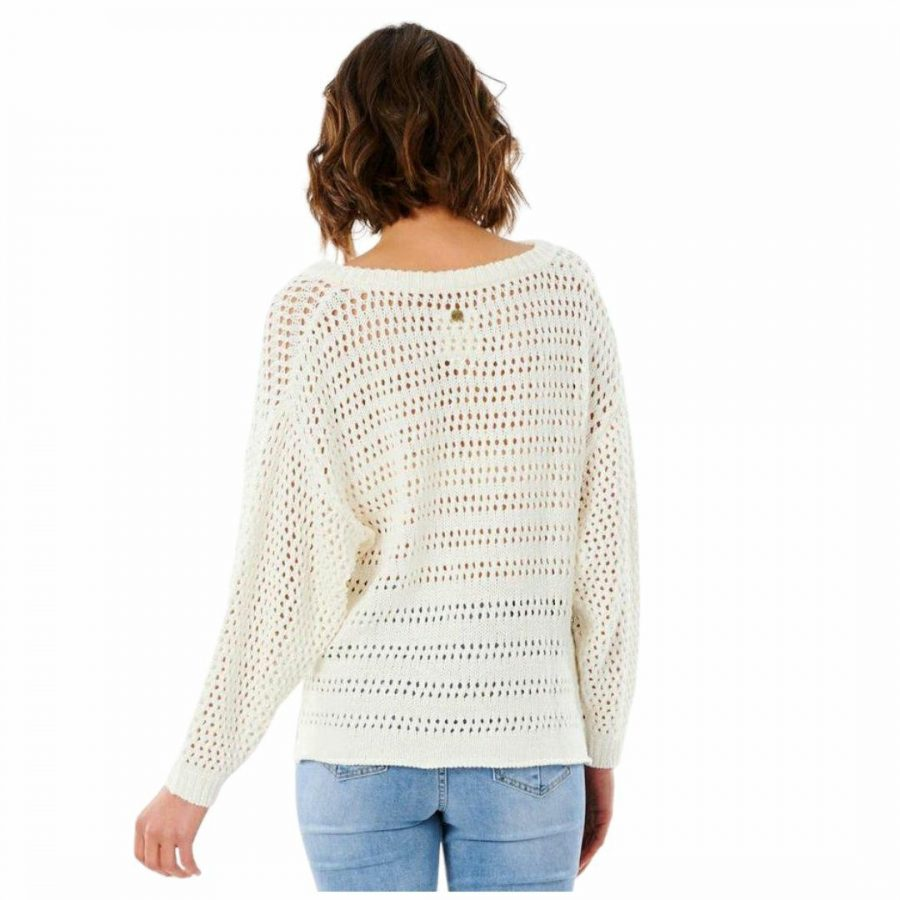 Panoma Sweater Womens Hooded Tops And Crew Tops Colour is Bone