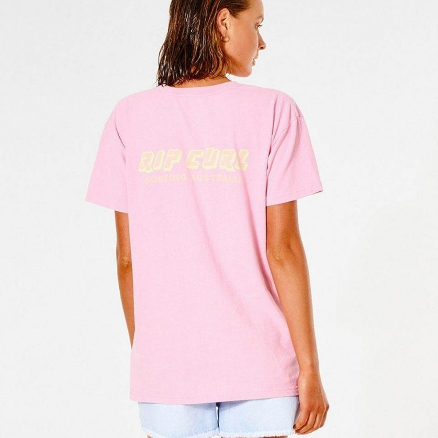 Vintage Revival O/s Tee Womens Tee Shirts Colour is Pink