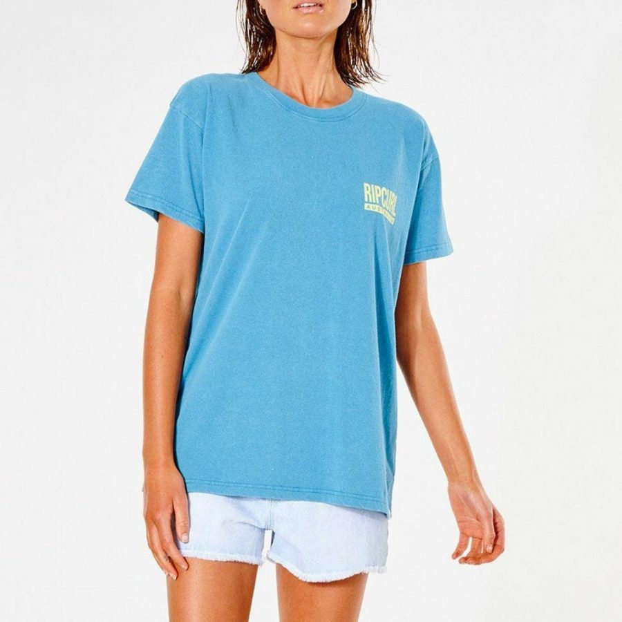 Vintage Revival O/s Tee Womens Tee Shirts Colour is Turquoise