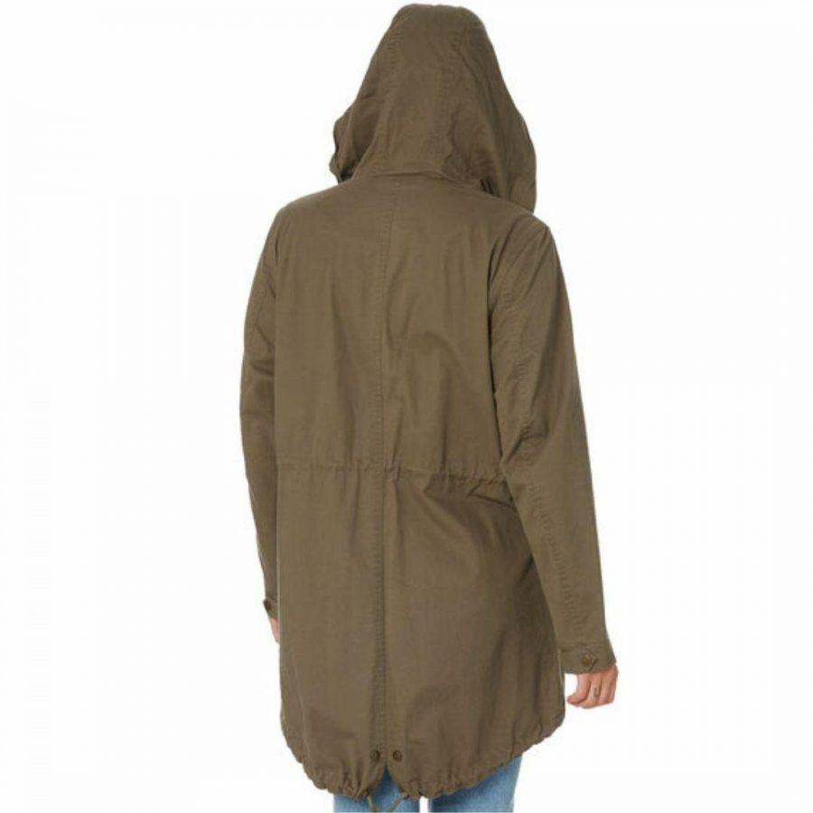 Territory Twill Anorak Womens Jackets Colour is Medium Olive