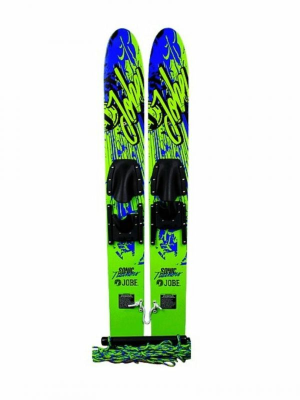 """46""""sonic Ski Trainers Unisex Water Skis Colour is Blkgrn"""