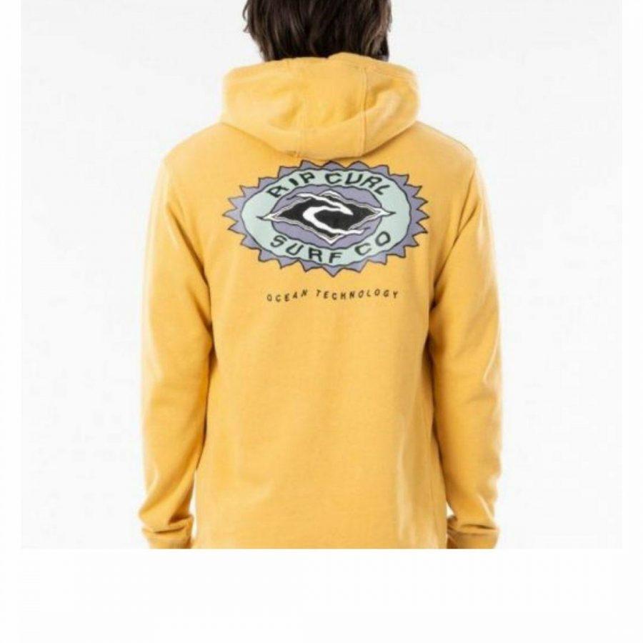 Ocean Sun Z/t Hood - Boy Boys Tops Colour is Mustard