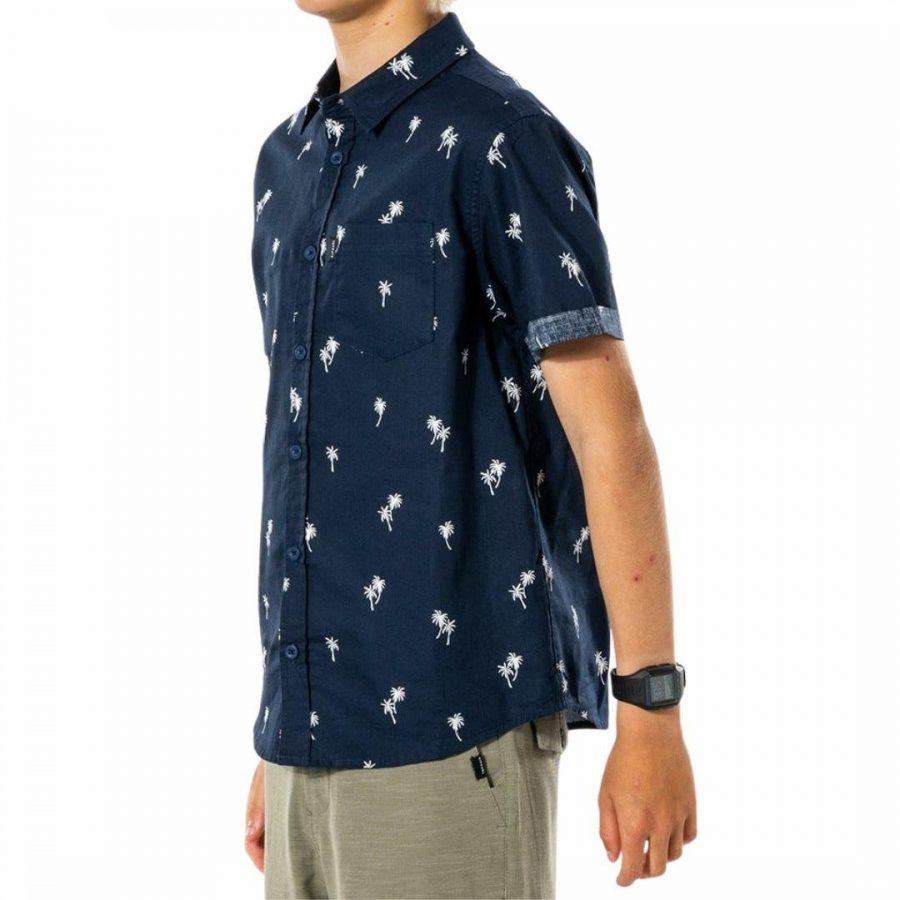 Paradise Palms S/s Shirtb Boys Tee Shirts Colour is Navy
