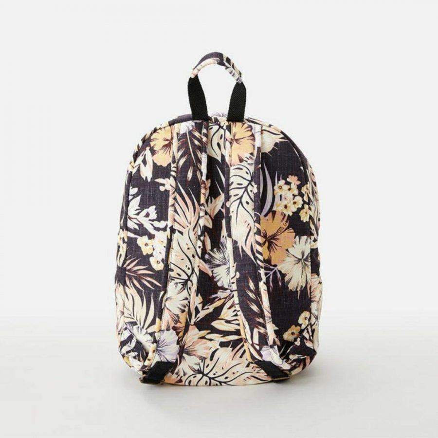 Canvas 18l Mixed Womens Travel Bags And Backpacks Colour is Black