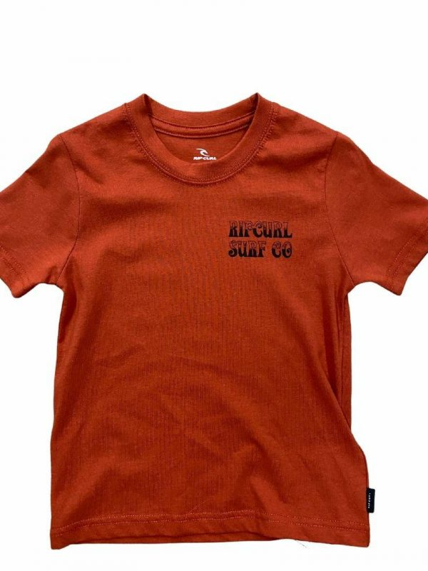 Coil Tee-boy Kids Toddlers And Groms Tee Shirts Colour is Red Dirt