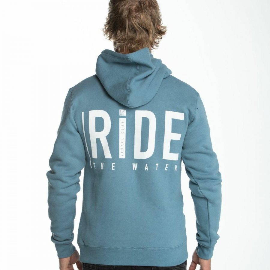 Ride The Water Hood Mens Hooded Tops And Crew Tops Colour is Sltb