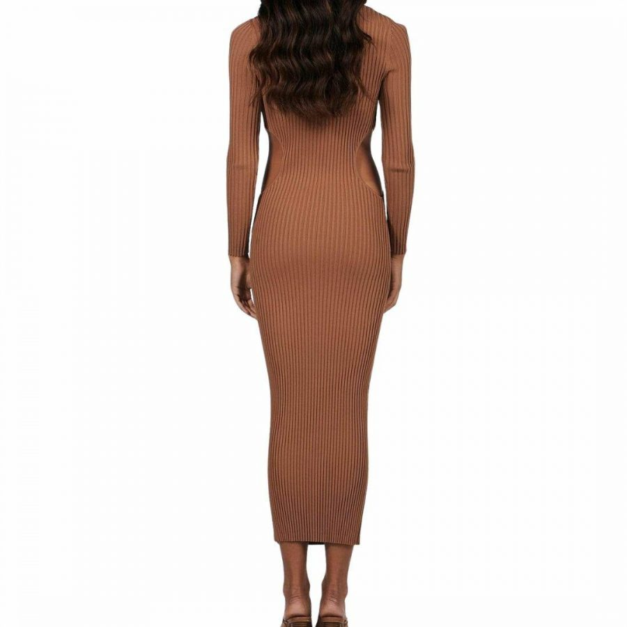 Violet Midi Dress Womens Skirts And Dresses Colour is Chocolate