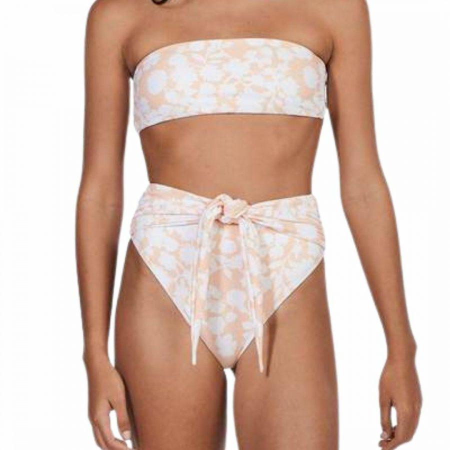 Keely Bandeau Womens Swim Wear Colour is Bloom