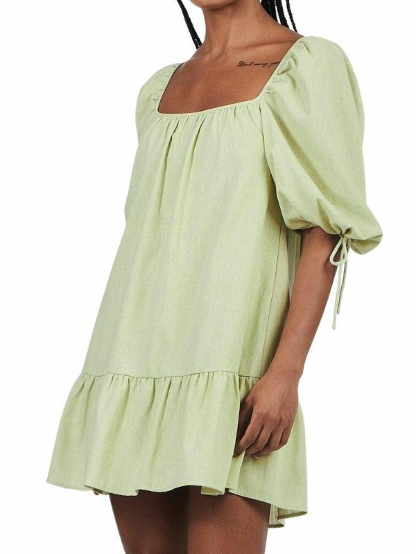 Elodie Mini Dress Womens Skirts And Dresses Colour is Sage