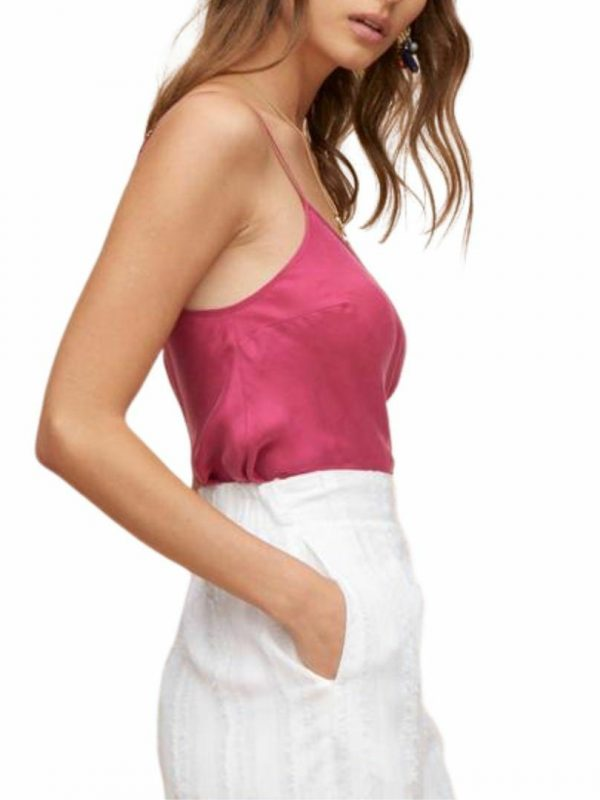 Aya Cami Womens Tanks And Singlets Colour is Berry