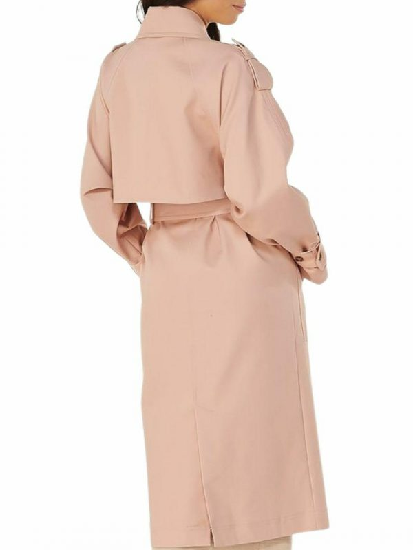 Mariko Trench Womens Jackets Colour is Blush