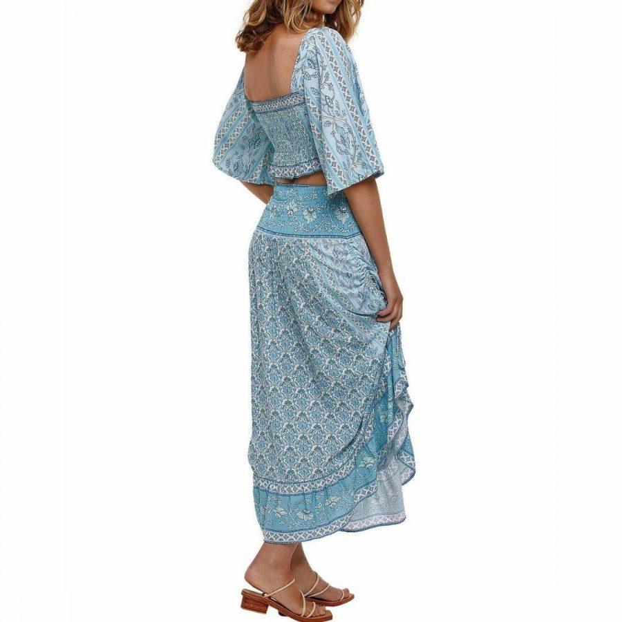 Samara Lola Midi Skirt Womens Skirts And Dresses Colour is Blue