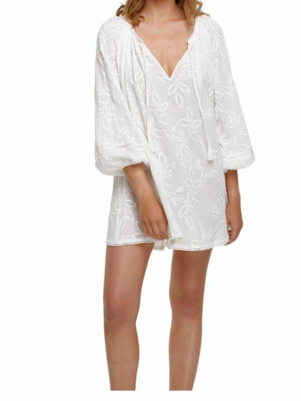 Isla Arlo Tunic Womens Skirts And Dresses Colour is Antique White
