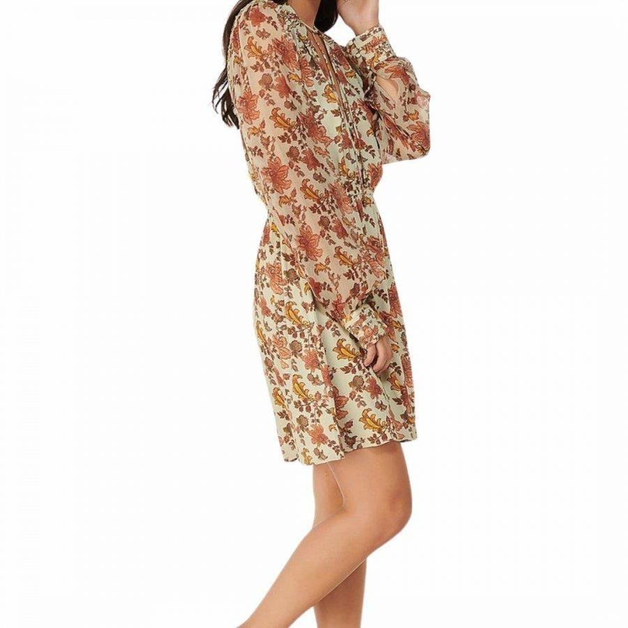 Gardenia Nima Ls Mini Womens Skirts And Dresses Colour is Gardenia