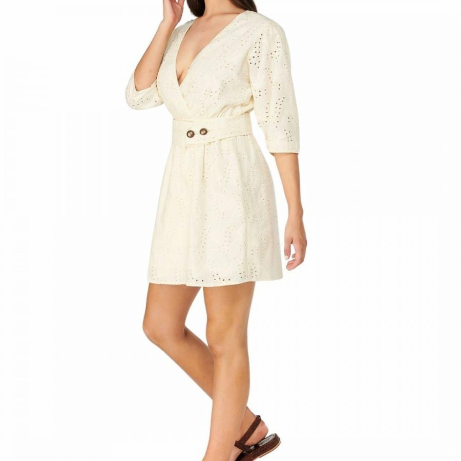 Neive Ana Broderie Wrap Womens Skirts And Dresses Colour is Vanilla