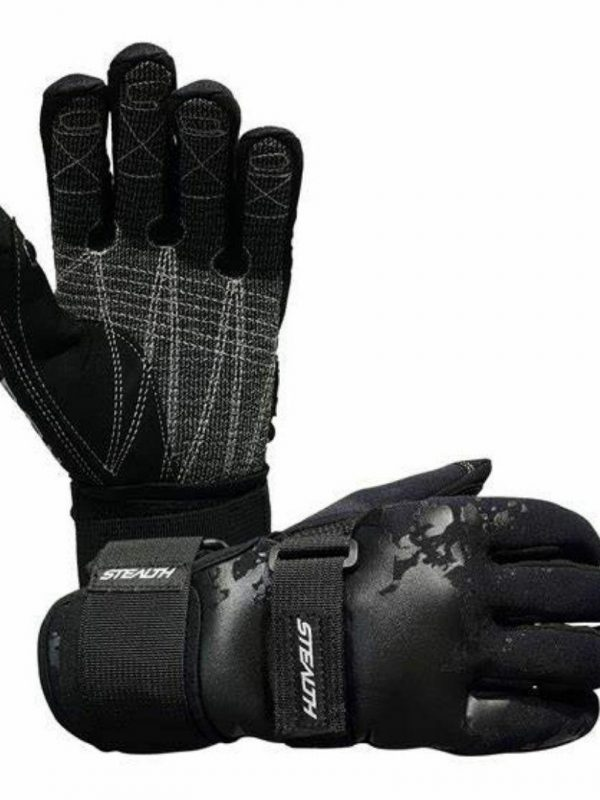 Stealth Gloves Unisex Water Ski Accessories Colour is Black