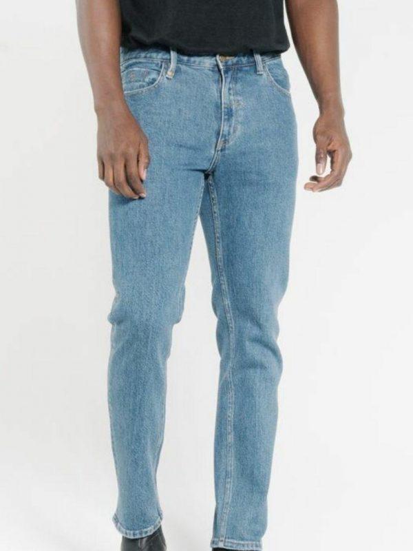 Bones Denim Jean Mens Pants And Jeans Colour is Rinsed Blue