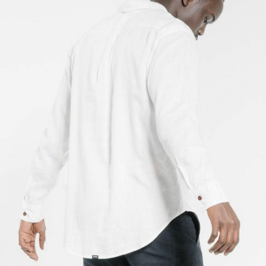 Minimalthrills Ls Shirt Mens Tops Colour is Dirty White