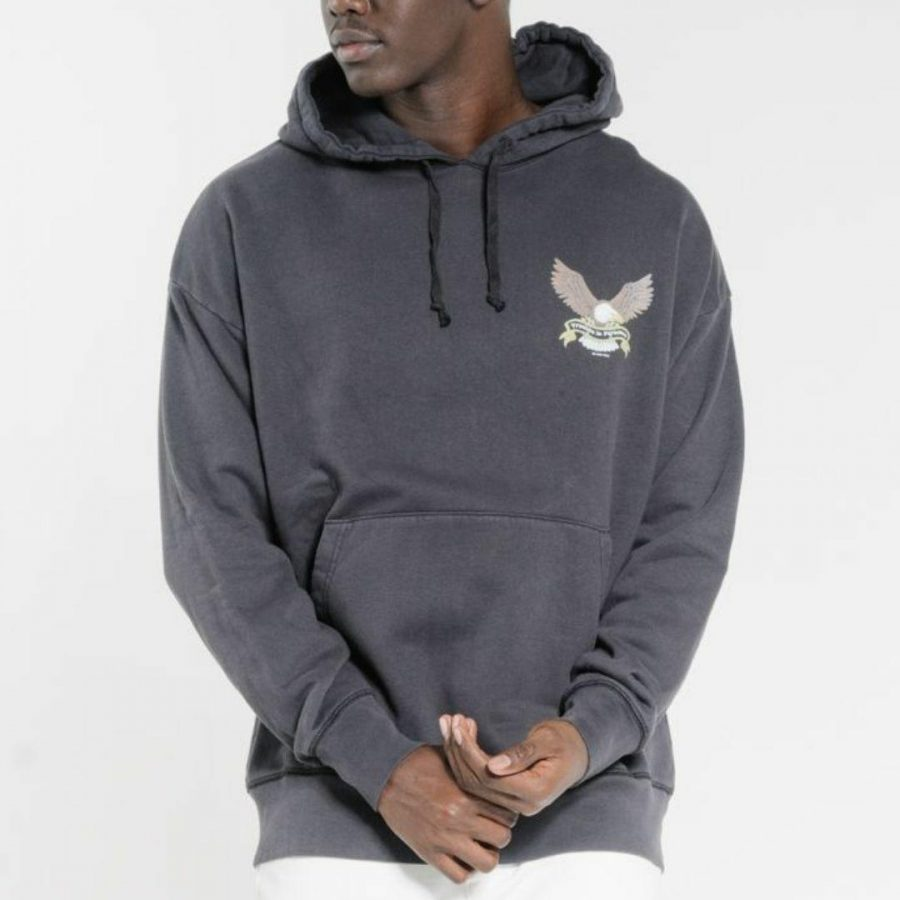 Troubled Paradise Hood Mens Hooded Tops And Crew Tops Colour is Dark Navy